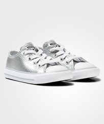 Converse Silver Metallic Infant Chuck Taylor All Star Trainers PURE SILVER/WHITE/WHITE