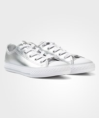 Converse Silver Metallic Chuck Taylor All Star Trainers PURE SILVER/WHITE/WHITE