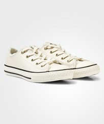 Converse Cream Shearling Lining Chuck Taylor All Star Trainers PARCHMENT/BLACK/EGRET