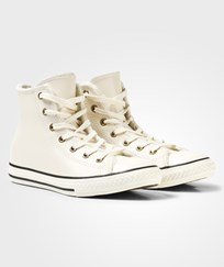 Converse Cream Shearling Lining Chuck Taylor All Star Hi Tops PARCHMENT/BLACK/EGRET