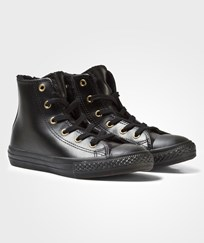 Converse Black Shearling Lining Chuck Taylor All Star Hi Tops Black