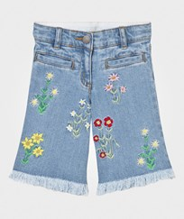 Stella McCartney Kids May Denim Culottes Embroidered Flowers 4160