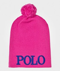 Ralph Lauren Embroidered Knit Hat Belmont Pink A6302