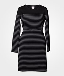 Boob Knitted Dress Striped Black/Elephant Black/Elephant