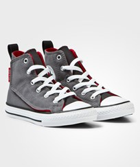 Converse Grey Chuck Taylor All Star Simple Step Hi Top Trainers THNDERBLK