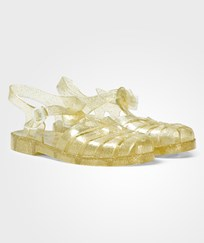 Little Marc Jacobs Gold Glitter Jelly Sandals Z98