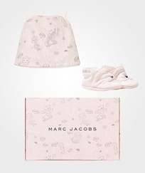 Little Marc Jacobs Pink Cat Print Booties and Hat Set 45B
