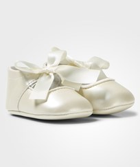Mayoral Cream Bow Detail Crib Shoes 22