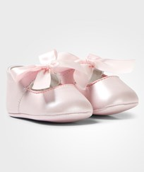 Mayoral Pale Pink Bow Detail Crib Shoes 24