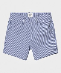 Carrément Beau Blue and White Stripe Cotton Shorts N58