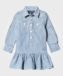 Ralph Lauren Chambray Dress Woven Indigo INDIGO