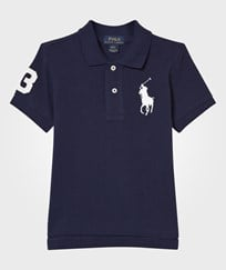 Ralph Lauren Navy Cotton Mesh Polo Shirt Newport Navy