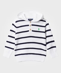 Ralph Lauren Stripe Hoodie Sweater White Multi White Multi