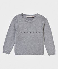 Stella McCartney Kids Grey Knitted Jumper with Bunny Back 1461