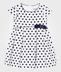 Mayoral Navy Spot Dress with Bow Detail 15