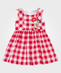 Mayoral Red Gingham Dress with Flower Embroidery 73
