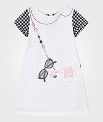 Mayoral White and Black Gingham Dress 66