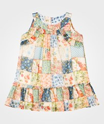 Mayoral Multi Floral Patchwork Frill Drop Waist Dress 49