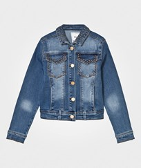 Mayoral Blue Washed Studded Denim Jacket 5