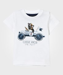 Mayoral White Bulldog Print Tee 72