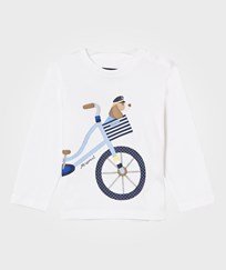 Mayoral White Puppy and Bike Print Tee 10