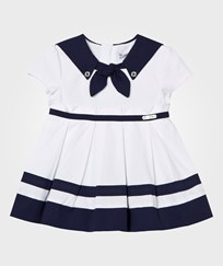 Mayoral White and Navy Sailor Dress 44