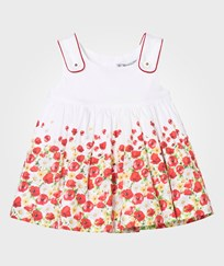 Mayoral White Multi Poppy Print Dress 18