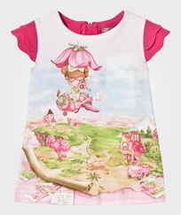 Mayoral Pink Flying Girl Print Dress 53