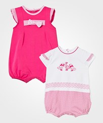 Mayoral Fuchsia and Duck Embroidered Romper 2-Pack 46