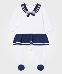 Mayoral White and Navy Sailor Baby Body 13