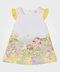 Mayoral Yellow Girl and Puppy Printed Jersey Dress 64
