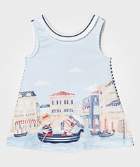 Mayoral Multi Bear in Venice Print Jersey Dress 1