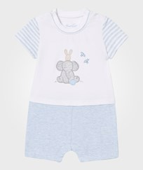 Mayoral Pale Blue Elephant and Bunny Romper 34