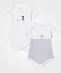 Mayoral White and Navy Puppy Print Body 2-Pack 50