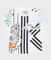 Kenzo Multi All Over Tiger Print Tee 01