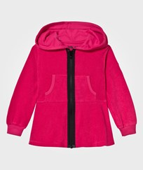 The BRAND Cotton Terry Peplum Hoodie Pink Pink