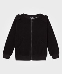 The BRAND Cotton Terry Zip Sweater Black Black