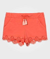 Chloé Coral Scallop Broderie Anglaise Shorts 432