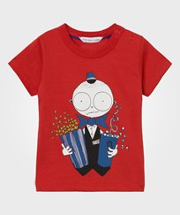 Little Marc Jacobs Red Mr Marc Popcorn Tee 97S