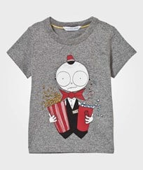 Little Marc Jacobs Grey Mr Marc Popcorn Tee A64