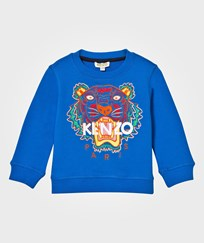 Kenzo Blue Tiger Embroidered Sweatshirt 44