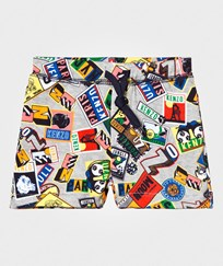 Kenzo Multi All Over Boarding Pass Sweat Shorts 20