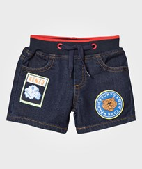 Kenzo Dark Denim Shorts with Patches 460