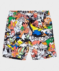 Kenzo Multi All Over Cactus Print Shorts 92