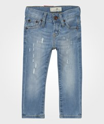 Levis Kids Light Wash 520 Extreme Taper Distressed Jean 46