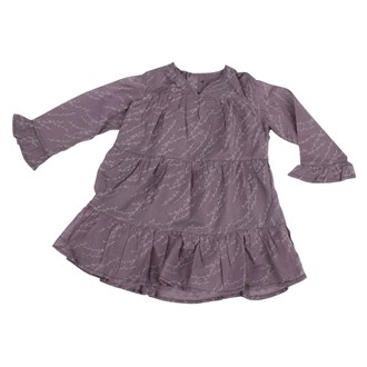Dress Ruffle Sleeve Lavendel, Wheat