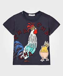 Dolce & Gabbana Navy Cockerel and Chick Applique Tee (Chinese NY) HZ689