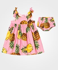 Dolce & Gabbana Pink Pinapple Print Cotton Sleeveless Dress with Knickers HF716