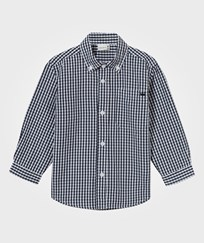 Hust&Claire Plaid Shirt Navy Navy