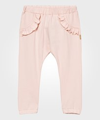 Hust&Claire Sweatpants With Ruffles Peach Dust Peach dust